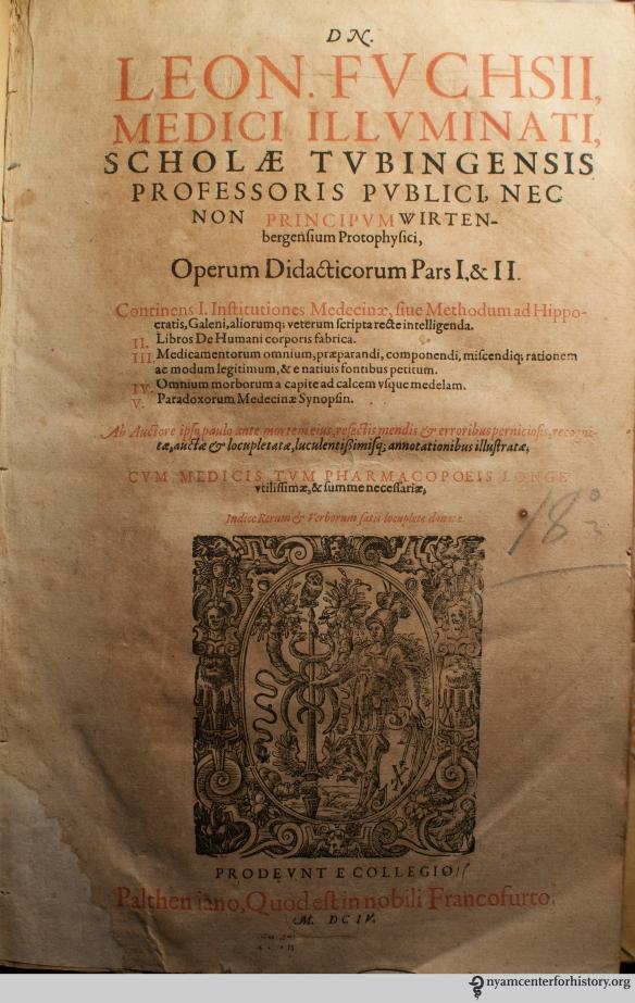 Fuchs, Operum didacticorum, 1604.