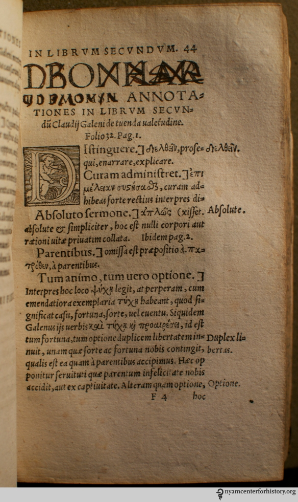 In De sanitate tuenda libri sex, 1541.