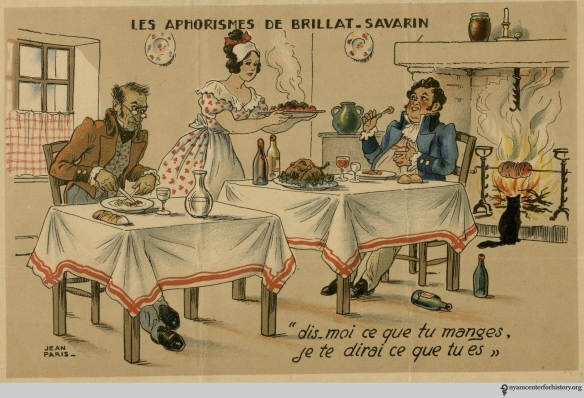 Les Aphorismes de Brillat-Savarin. From the Margaret Barclay Wilson Collection.