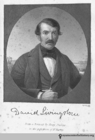 David Livingstone (1813–1873), in Livingstone, Missionary Travels and Researches in South Africa, opposite page 1.
