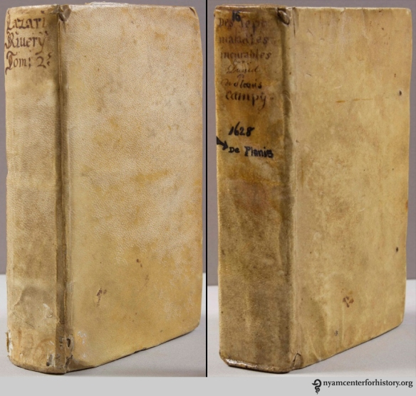 Left: Floating boards binding, Paris, 1645. Right: Wrapped board binding, Paris, 1628.