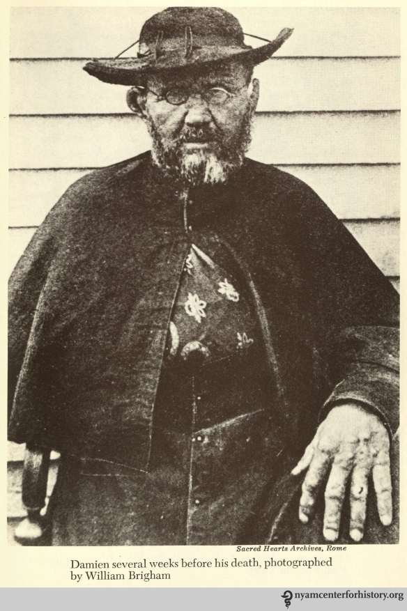 Damien weeks before his death, photographed by William Brigham.