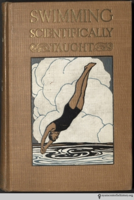 Cover of Dalton, Swimming Scientifically Taught, 1918.