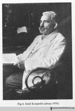 Emil Kraepelin circa 1910. In Kraepelin, Memoirs, 1987.