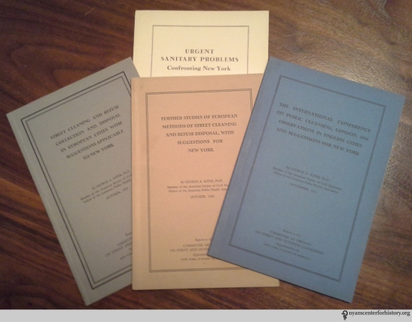Pamphlets reflecting the work of George Soper and the Committee of Twenty.