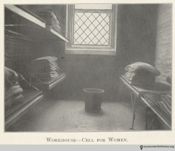 """Workhouse—Cell for Women."" In ""The Modern Way,"" 1913, page 11."
