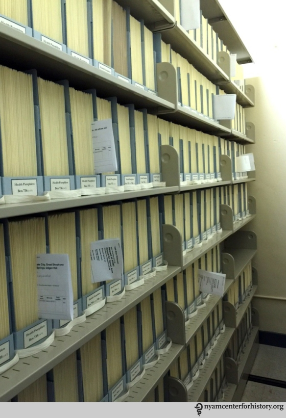 Storage space with rehoused pamphlets