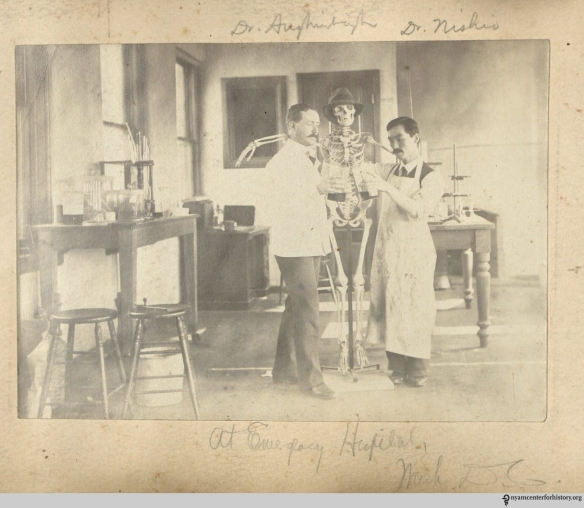Photograph in Photo album of W. E. Aughinbaugh, approximately 1897-1906.