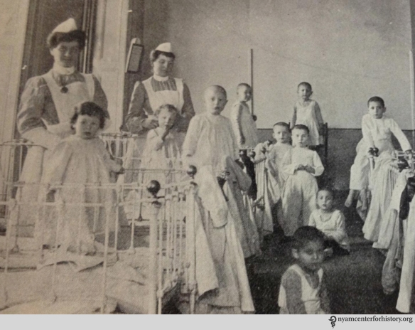 A dormitory in the Hebrew Infant Asylum. From Annual Report 1914 Hebrew Infant Asylum of New York.