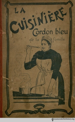Cover of Annette Lucas' La cuisinière, cordon bleu de la famille ...Paris: E. Guérin, [1905].
