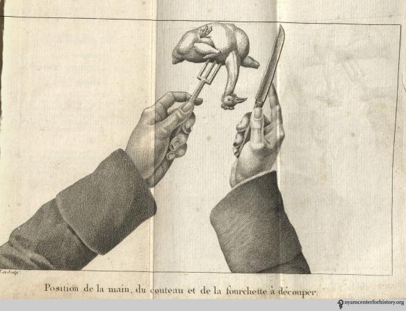 Frontispiece from F.J. Mayeux's, Le petit cuisinier français contenant la cuisine, l'office, la patisserie ...Bruxelles: Ferra aine, 1823.