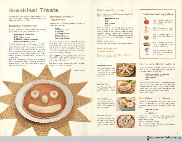 "From ""Chiquita Banana's Cookbook,"" 1960. Click to enlarge."