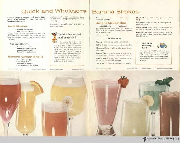 """Chiquita Banana's Cookbook,"" 1960, pages 6-7. Click to enlarge."