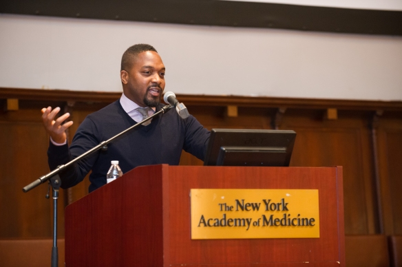 Bryant Terry speaks at the Eating Through Time Festival. Photo: