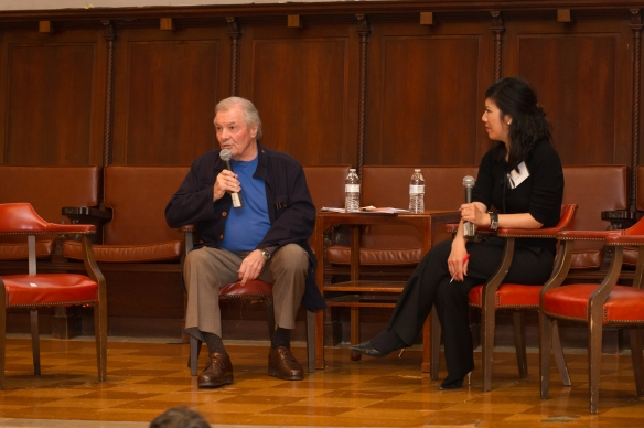 Jacques Pépin and Evelyn Kim at the Eating Through Time Festival.