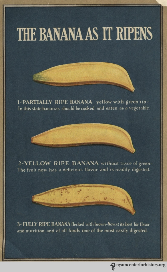 """The Food Value of the Banana,"" 1928, back cover."