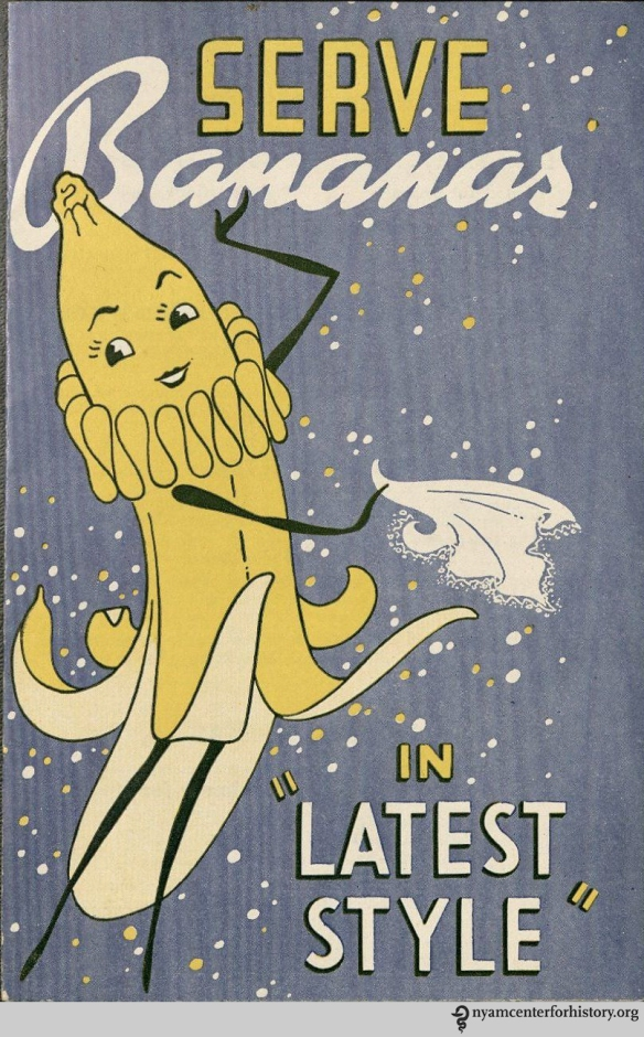 "Cover of ""Serve Bananas in 'Latest Style,'"" 1940."