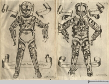 Want to wear shining armor without being a knight? This armor from Fabricius' 1678 L'opere chirugiche is a cuirass, an orthopedic device for correcting orthopedic injuries and deformities.