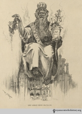 King Kong too boring? Try King Garbage, a visual representation of the sanitation problem in New York City at the time of this Harper's Weekly issue, published February 7, 1891.