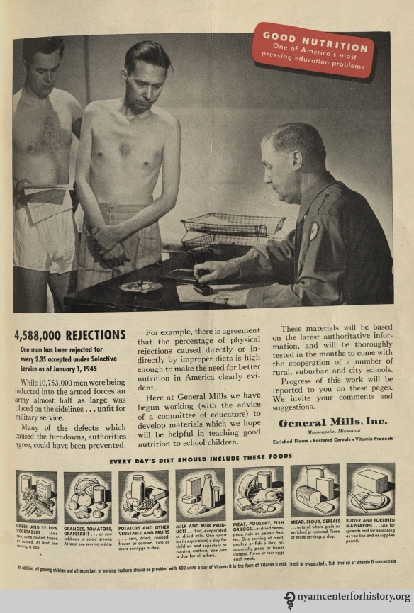General Mills ad in Hygeia Magazine, August 1945. Click to enlarge.