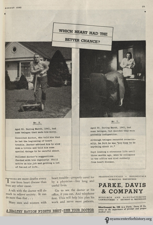 Parke Davis ad in Hygeia Magazine, August 1945. Click to enlarge.