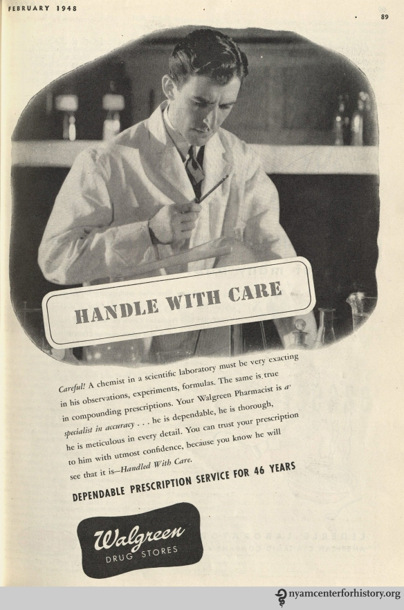 Walgreen ad in Hygeia Magazine, February 1948. Click to enlarge.