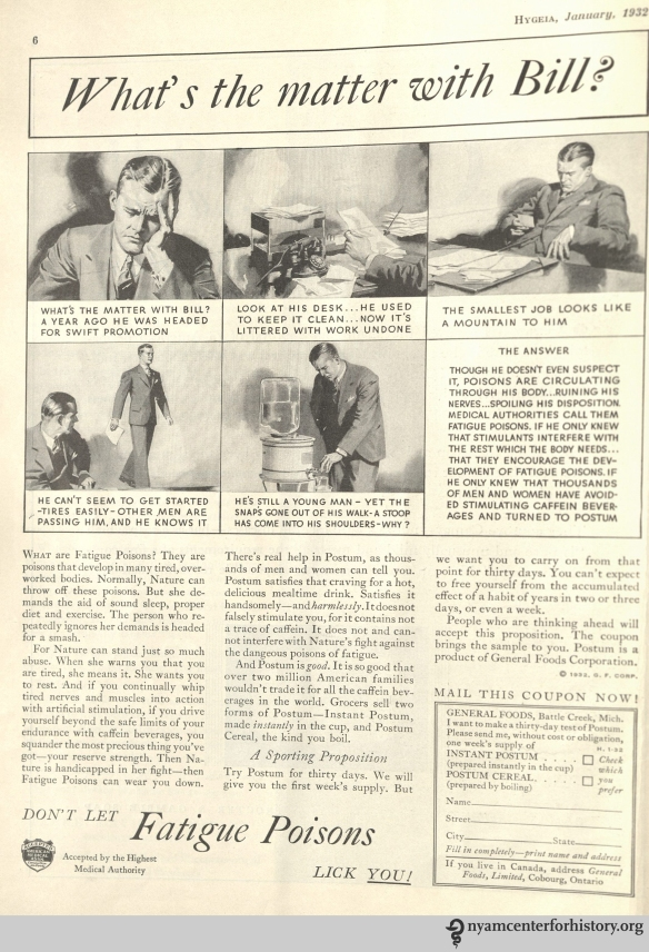 General Foods ad in Hygeia Magazine, January 1932. Click to enlarge.