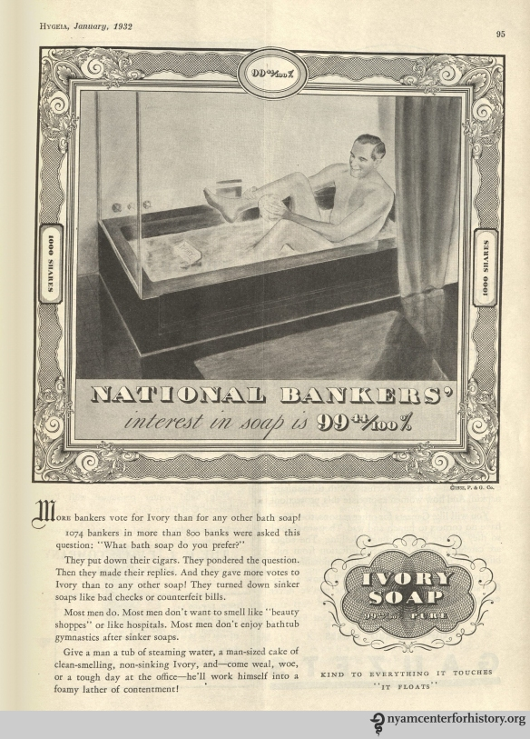 Ivory Soap ad in Hygeia Magazine, January 1932. Click to enlarge.