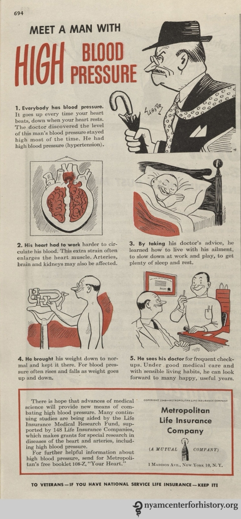 Metropolitan Life Insurance ad inHygeia Magazine, October 1948. Click to enlarge.