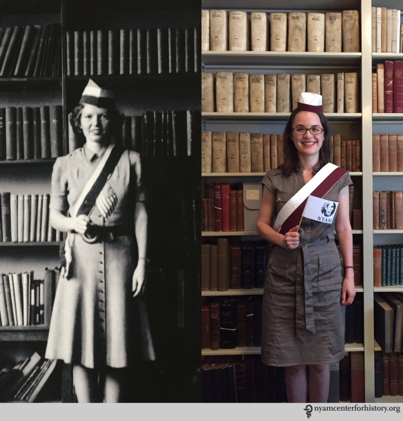 Left: E. W. Evans, April 11, 1941. Right: Christina Amato, Book Conservator, July 23, 2015.