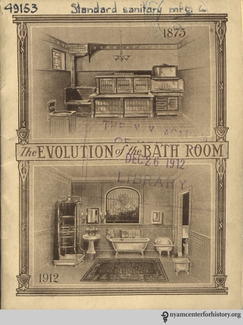 Cover, The Evolution of the Bath Room, circa 1912.