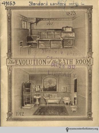 Cover, The Evolution of the Bath Room, circa 1912.