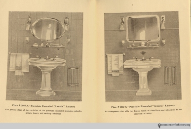 Pages 16-17, The Evolution of the Bath Room, circa 1912.