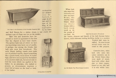 Pages 6-7, The Evolution of the Bath Room, circa 1912.
