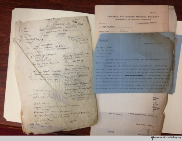 A case file from the Charles Loomis Dana papers. The patient name has been removed from the image for privacy.