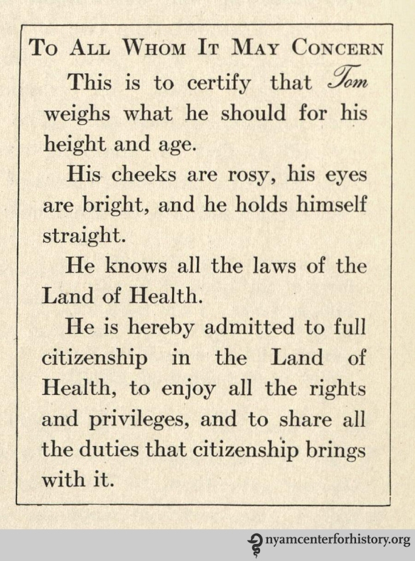 From Hallock and Winslow, The Land of Health. New York: Charles E. Merrill, 1922.