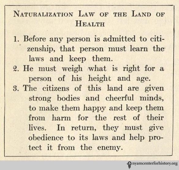 From Hallock and Winslow, The Land of Health. NY: Charles E. Merrill. 1922.
