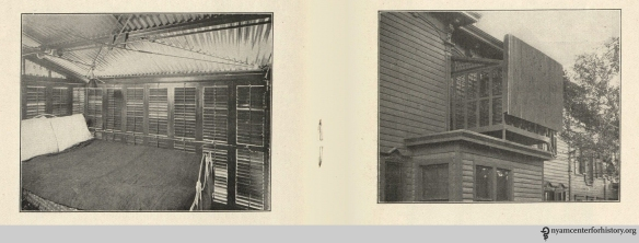 Left: The inside of the Starnook with shutters and roof closed. Right: The Starnook seen from outside, with roof open. Images on pages 6 and 7 of The Starnok. Click to enlarge.