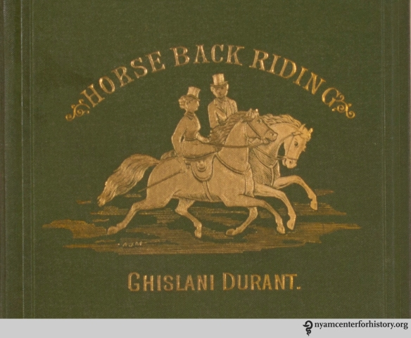 Cover detail of Durant's Horse Back Riding from a Medical Point of View, 1878.