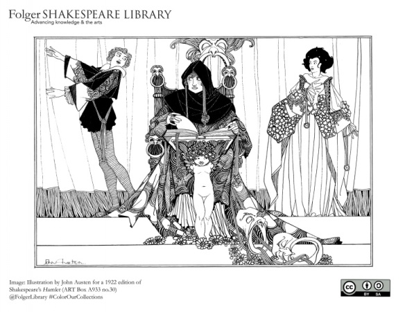 Illustration by John Austen for a 1922 edition of Shakespeare's Hamlet (ART Box A933 no.30). Courtesy of the Folger Library.