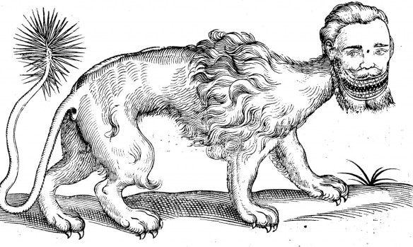 Manitchora from The History of Four-Footed Beasts and Serpants by Edward Topsell. London, 1658. Courtesy of the David M. Rubenstein Rare Book & Manuscript Library.