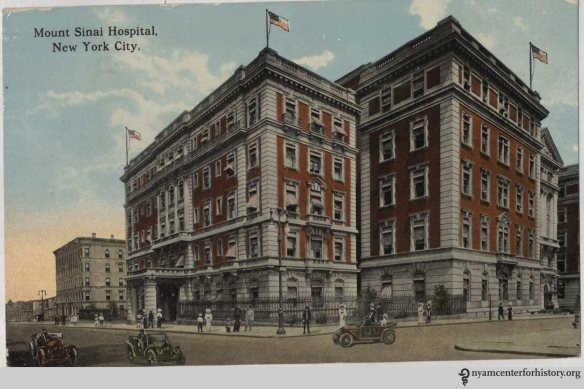 Mount Sinai Hospital, circa 1913. From The Dr. Robert Matz Collection of Medical Postcards.