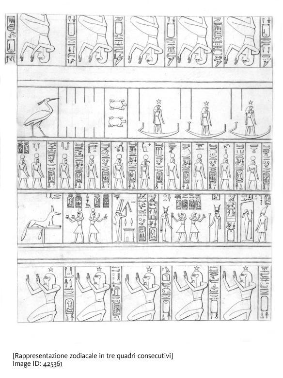 [Rappresentazione zodiacale in tre quadri consecutivi]. Image ID: 425361. Courtesy of the New York Public Library