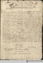 """This Elizabethan plague manuſcript, penned in the late ſixteenth century, ſhows us a ſpectacular number of inſtances of ſ in handwriting. It alſo contains the relic of another unjuſtly obſolete letter (the thorn) in the word ye, which all ſophiſticated people know ſtands for """"the."""" Our diſtreſs over the common miſuſe of this word by corny ſhopkeepers cannot be overſtated, but the ſ muſt take precedence! Once the reſtoration of the ſ has been achieved, we may adopt thorn awareneſs as our next cauſe."""