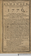 The year 1776 holds ſubſtantial hiſtorical ſentiment for Americans, but as Stearns' North American Almanack atteſts, it was alſo biſſextile, a leap year. Biſſextile is a ſadly underuſed word, and we love its ſucceſſive uſe of ſ.