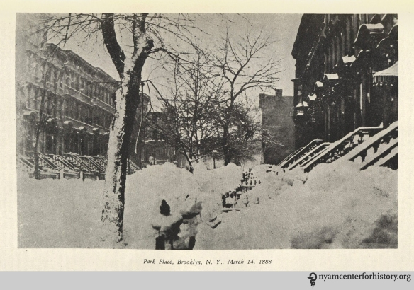 "Park Place, Brooklyn, N. Y., March 14, 1888."" From Strong, The Great Blizzard of 1888."