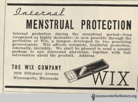 Wix ad in the Journal of the American Medical Association, vol. 106, number 12, March 21, 1936. Click to enlarge.