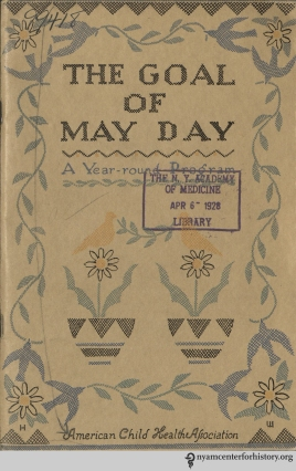 Cover of The Goal of May Day, 1928.