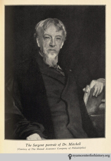 The Sargent portrait of Dr. Mitchell. In Burr, Weir Mitchell: His Life and Letters, 1929.