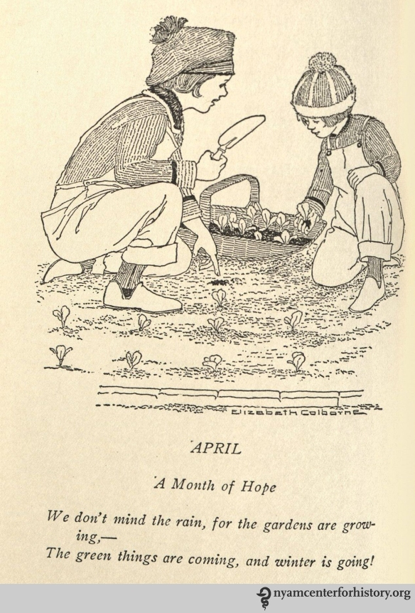 April poem from Weaver, A Thousand Ways to Please a Family, 1922.